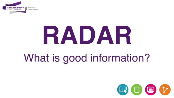 What is good information? Use your RADAR