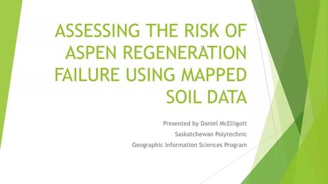 Thumbnail for entry Assessing the Risk of Aspen Regeneration  Failure Using Mapped Soil Data