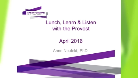 Thumbnail for entry Lunch, Learn & Listen April 20, 2016