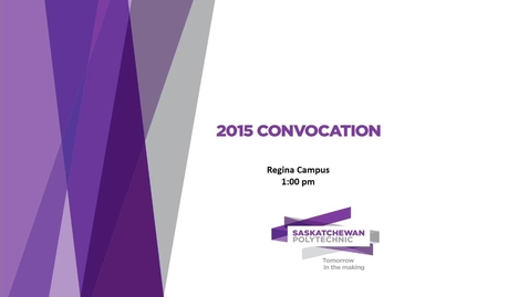 Thumbnail for entry Convocation Regina 2015
