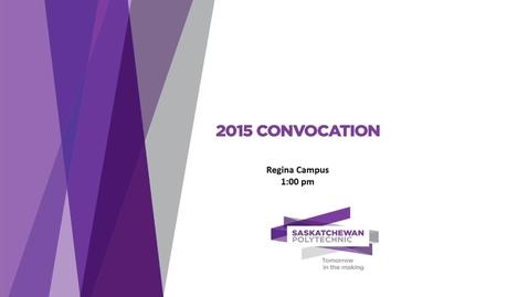 Thumbnail for entry Convocation Regina 2015