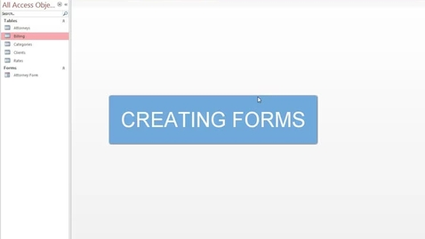 Thumbnail for entry Creating Forms