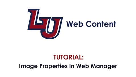 Thumbnail for entry Tutorial: Image Properties in Web Manager