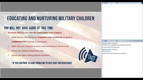 Thumbnail for entry Educating and Nurturing Military Children