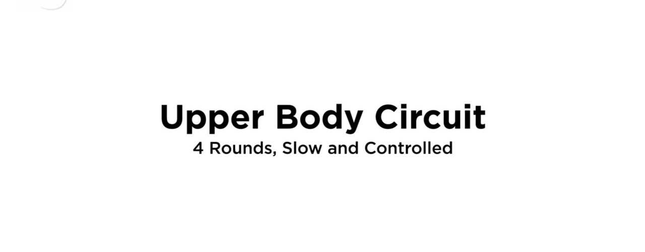 Upper Body Circuit