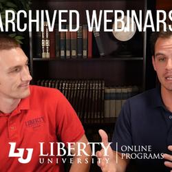 Thumbnail for channel Webinars   Liberty University Online Programs