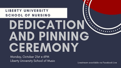 Thumbnail for entry LU Nursing Welcomes You to the Fall 2019 Nursing Pinning Ceremony - Oct.21 6PM