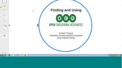 Thumbnail for entry Finding and Using Open Educational Resources