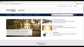 Thumbnail for entry How to Search in Oxford Journals