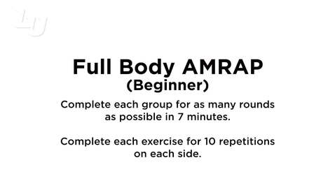Thumbnail for entry Full Body AMRAP (Beginner) 3.0