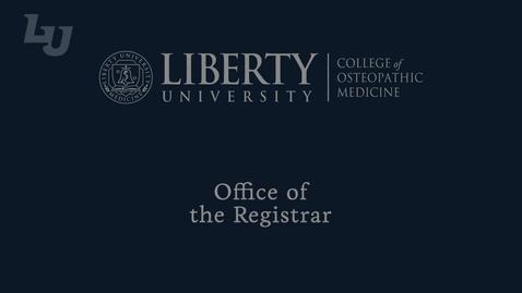Thumbnail for entry Registrar