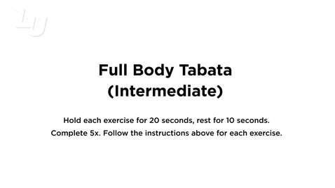 Thumbnail for entry Full Body Tabata Intermediate