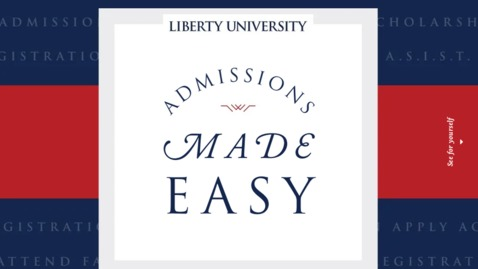 Thumbnail for entry Admissions Made Easy Webinar