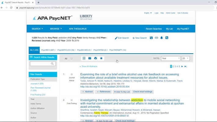Introduction to APA PsycNet