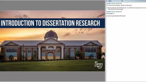 Thumbnail for entry Introduction to Dissertation Research: Literature Reviews, Methodologies, and Theoretical Frameworks