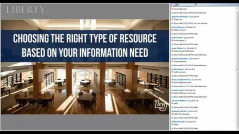 Thumbnail for entry Choosing the Right Type of Resource Based on Your Information Need
