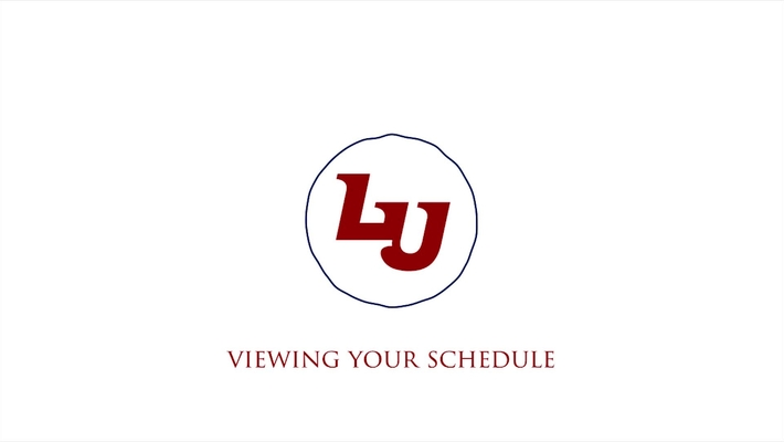 Viewing Your Schedule