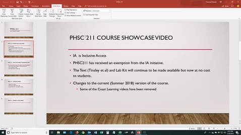 Thumbnail for entry PHSC211 Course Showcase Video