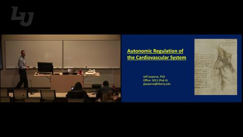 Thumbnail for entry CVRH - Autonomic Regulation of the Cardiovascular System (Lecture – Dr. Jasperse))