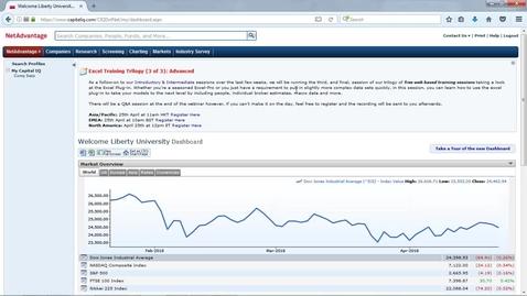 Thumbnail for entry S&P Capital IQ NetAdvantage Tutorial
