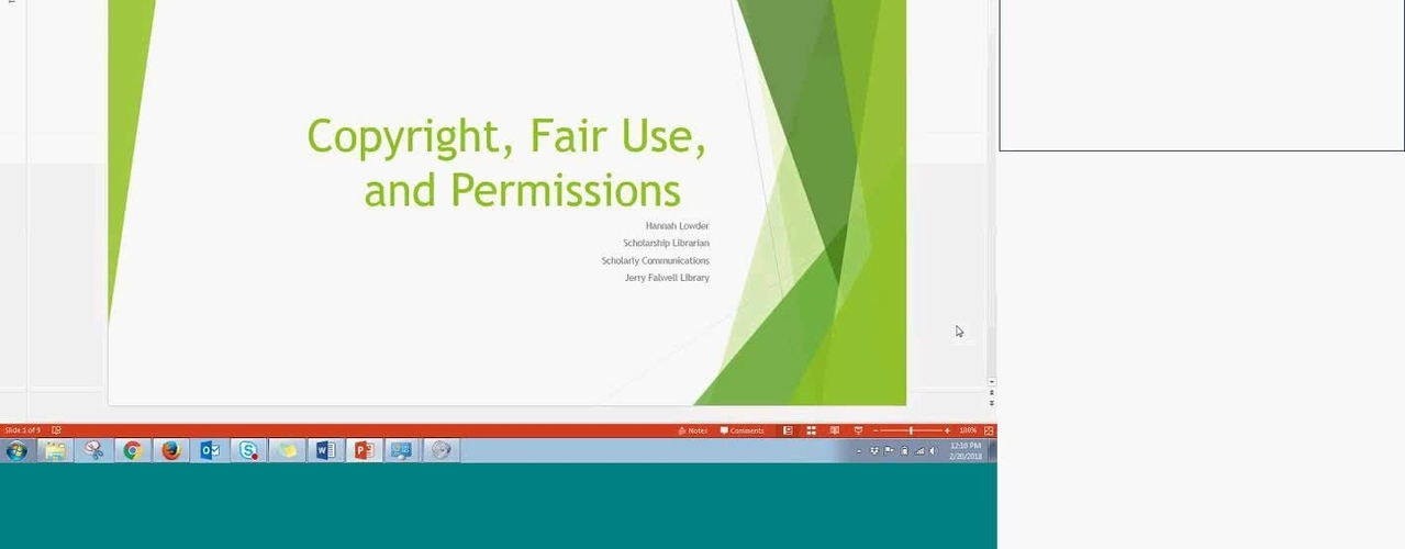 Copyright, Fair Use and Permissions