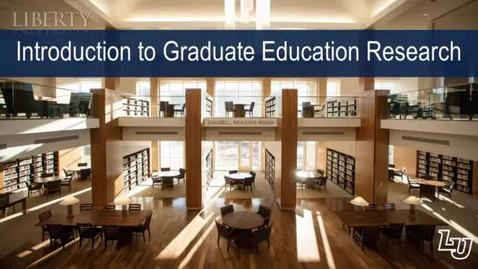 Thumbnail for entry Introduction to Graduate Education Research