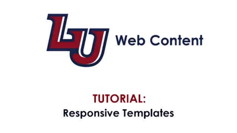 Thumbnail for entry Tutorial: Responsive Templates