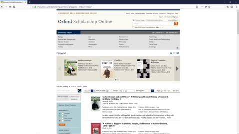 Thumbnail for entry Oxford Scholarship Online Tutorial