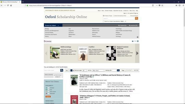 Oxford Scholarship Online Tutorial