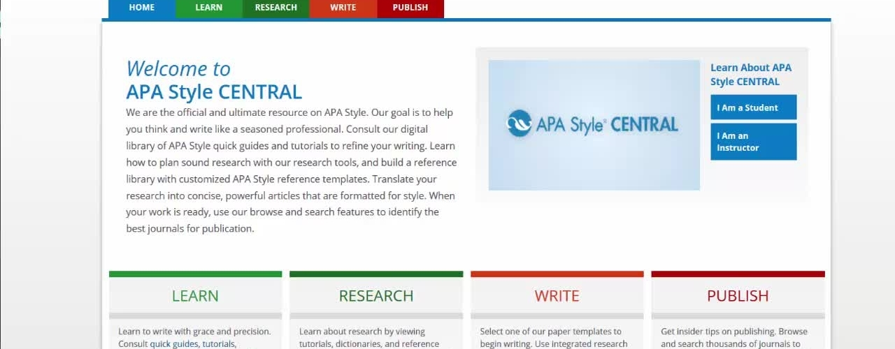 APA Style Central Database