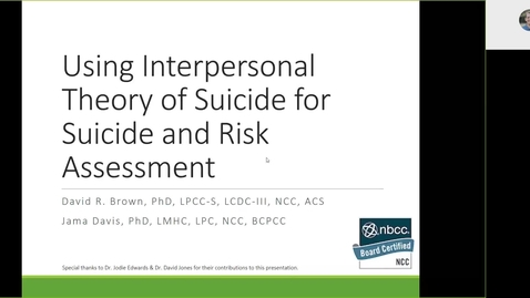 Thumbnail for entry Using Interpersonal Theory of Suicide for Suicide and Risk Assessment