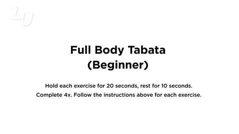 Thumbnail for entry Full Body Tabata Beginner
