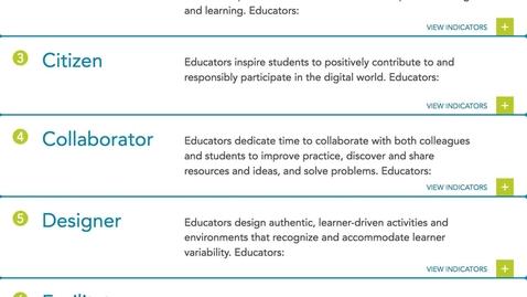 Thumbnail for entry EDUC 730 - Module 2 - ISTE Standards for Educators