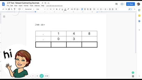 Thumbnail for entry MAT 0400_2.7.F Test_ Reteach Subtracting Decimals