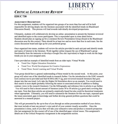 literature review instructions