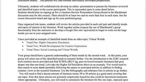 Thumbnail for entry EDUC 730 - Assignment Instructions - Critical Literature Review
