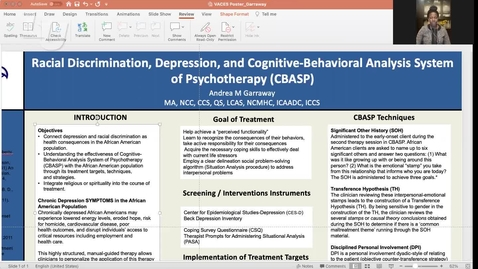 Thumbnail for entry Racial Discrimination, Depression, and Cognitive-Behavioral Analysis System of Psychotherapy (CBASP) (#12)