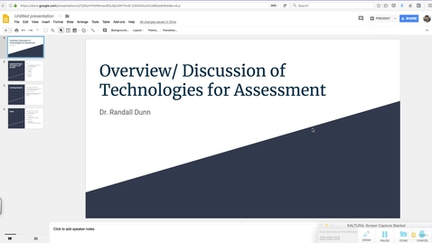 Thumbnail for entry EDUC 730 - Module 7 - Overview/ Discussion of Technologies for Assessment