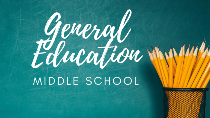 Thumbnail for channel General Education - Middle School