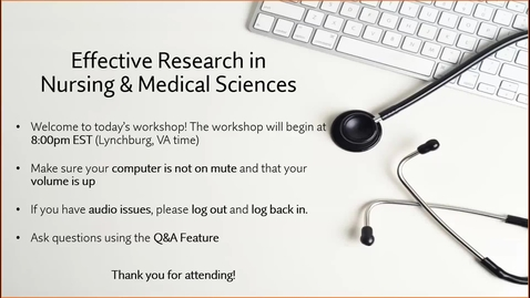 Thumbnail for entry Effective Research in Nursing and Medical Science