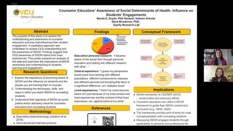 Thumbnail for entry Counseling Educators' Awareness of Social Determinants of Health (#8)