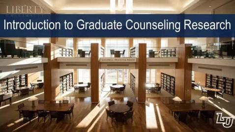 Thumbnail for entry Introduction to Graduate Counseling Research