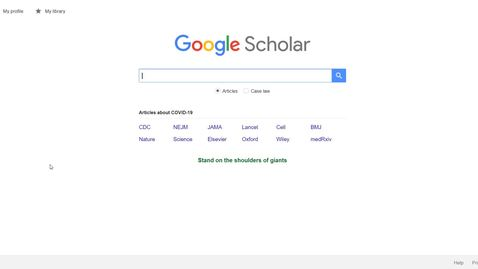 Thumbnail for entry Linking your Google Scholar Results to the JFL