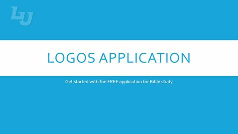 Thumbnail for entry Accessing Logos Bible Software