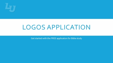 Thumbnail for entry Accessing Logos Bible Software