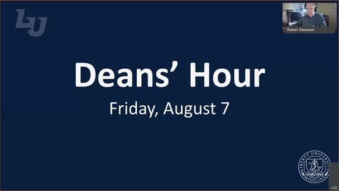 Thumbnail for entry Deans' Hour-August 7, 2020