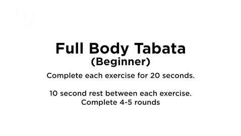 Thumbnail for entry Full Body Tabata (Beginner) 3.0