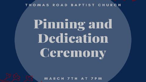 Thumbnail for entry Nursing Pinning & Dedication Ceremony - Mar.7, 7:00PM ET.