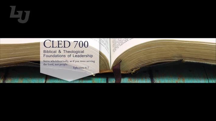 CLED 700 Welcome Video