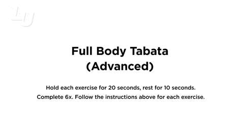 Thumbnail for entry Full Body Tabata Advanced